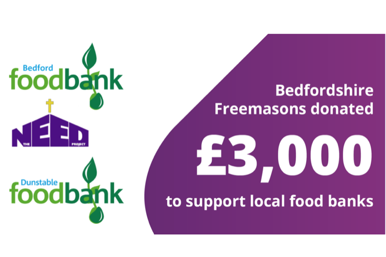Bedfordshire Freemasons Supporting Foodbanks