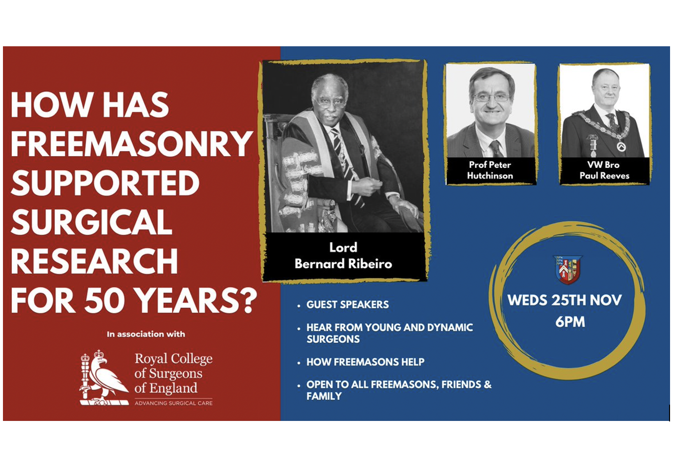 Freemasonry and Surgical Research