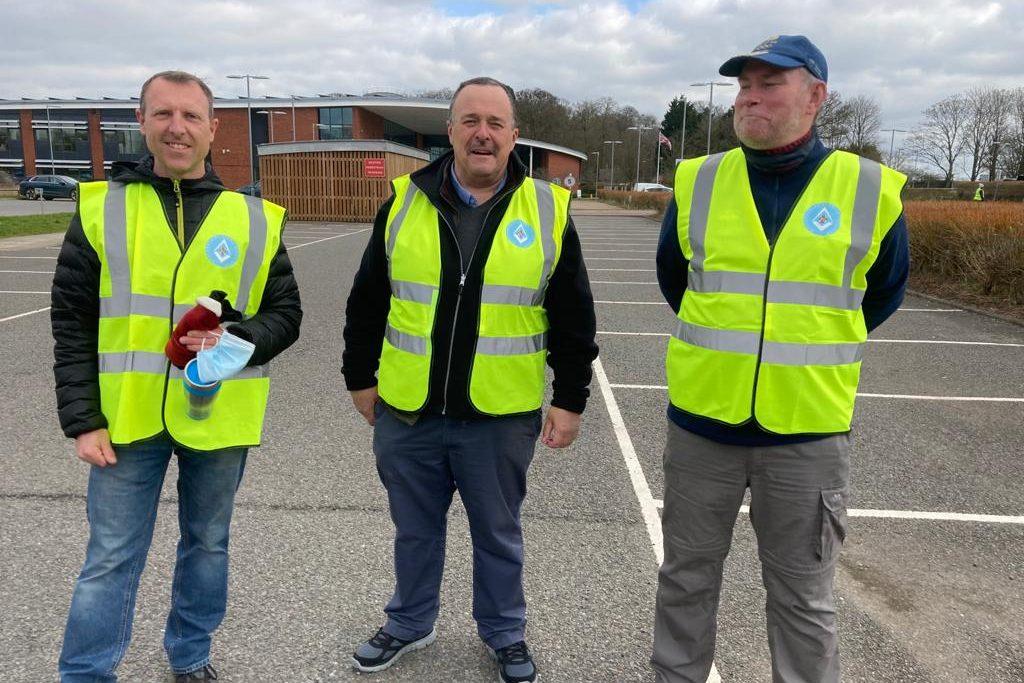 Light Blue Volunteers