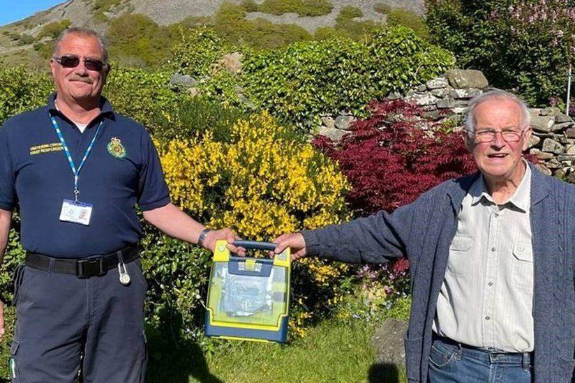 Freemason saved by defibrillator he helped raise money for
