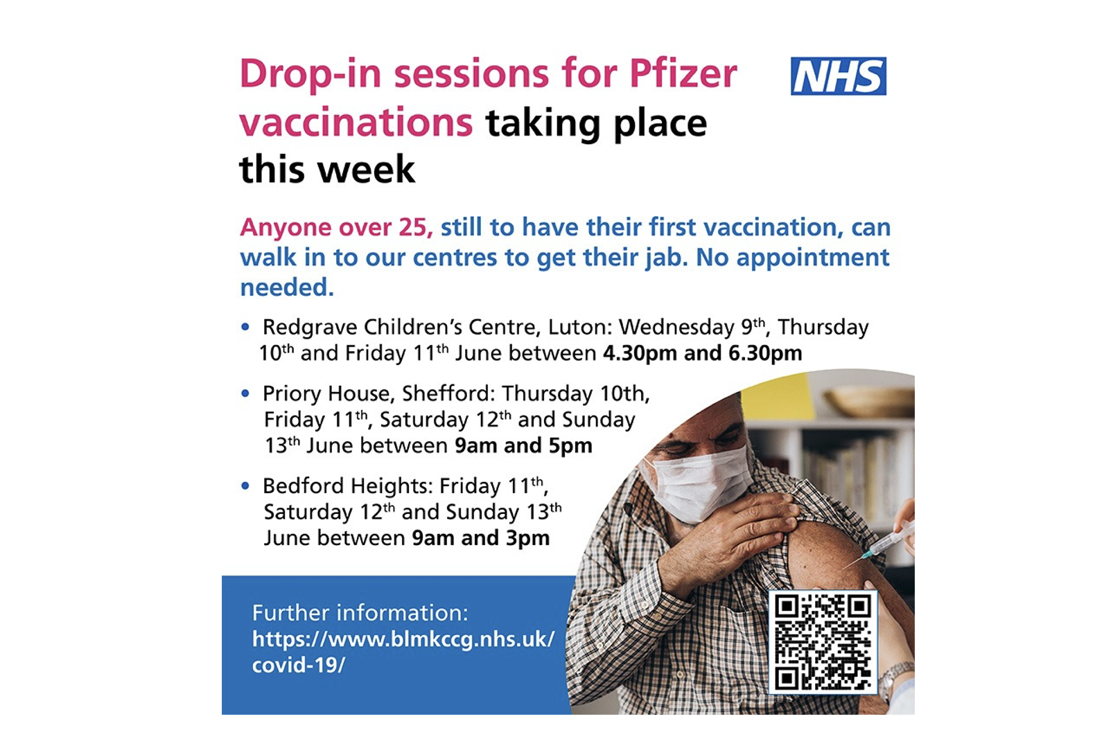 Drop-in Vaccinations This Weekend, Plus Thanks to the Volunteers