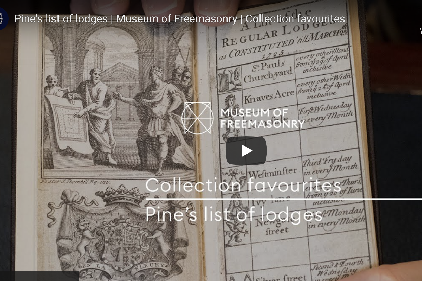 Where to Find your Freemasonry in 1725