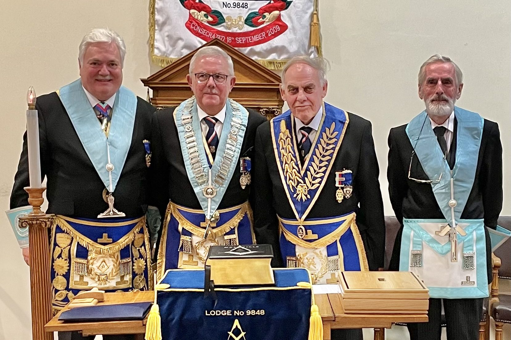 PGM Invested as Senior Warden of the Michael Sawyer Lodge of Reunion