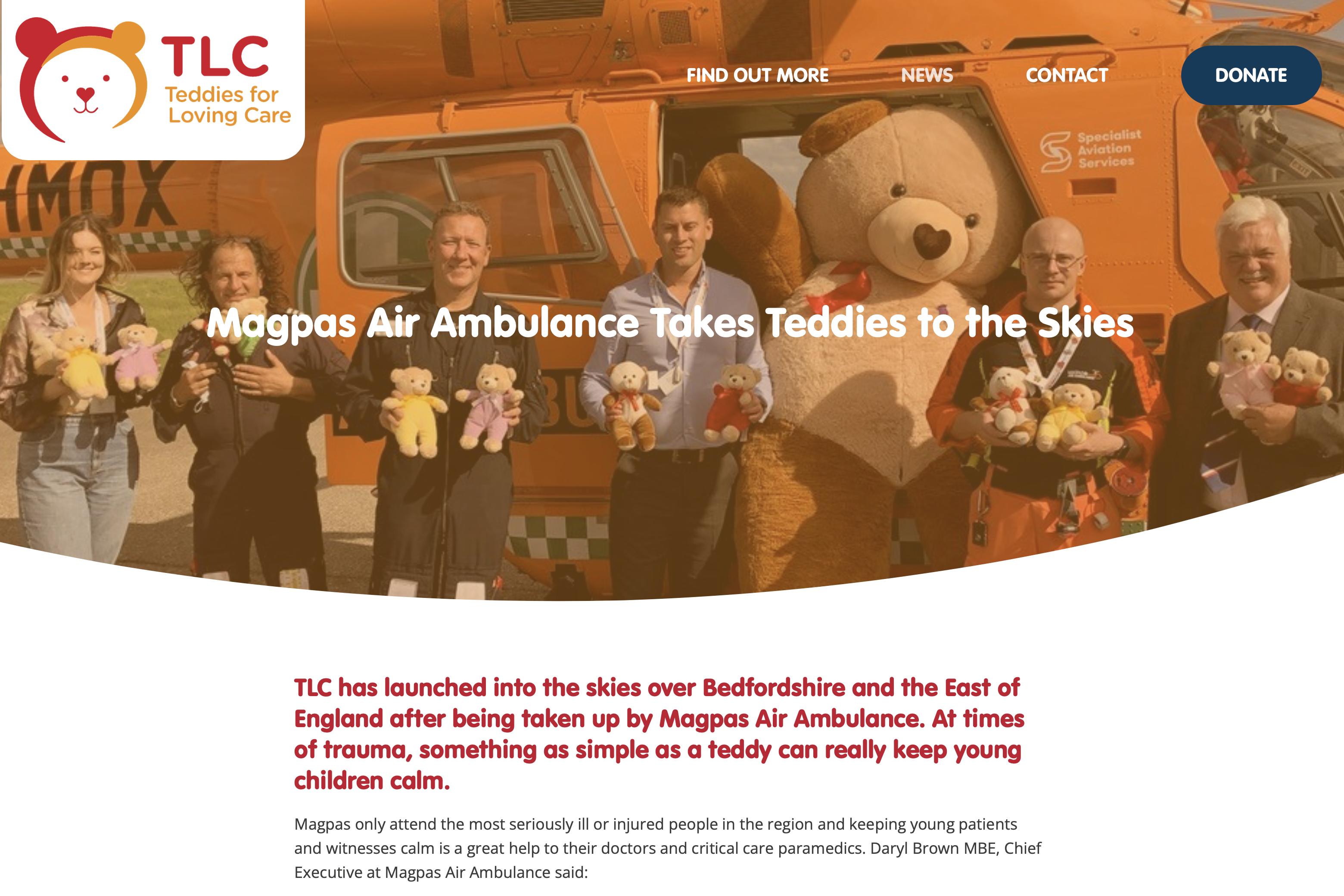 TLC Website Features Bedfordshire